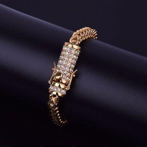 14K Gold PT stainless steel Franco bracelet
